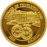 L7071 USA COINAGE OF TEMPLETON REID 1830 HISTORY OF GOLD 1937 OR GOLD BE PP PF P