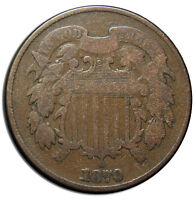 1870 TWO 2 CENT COIN PIECE LOT  MZ 2829