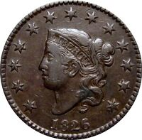 1826 CORONET CENT  N 7  NICE LOOKING EXTRA FINE
