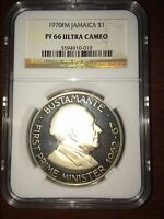 1970 JAMAICA $1   FIRST PRIME MINISTER   BUSTAMANTE   PF66 UC   NGC COIN   POP 1