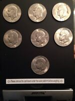 EISENHOWER EAGLE REVERSE DOLLARS LOT OF 7 1974 AND 1974D
