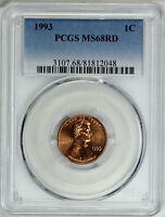 1993 PCGS MS68RD LINCOLN CENT