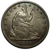 1868 SEATED SILVER LIBERTY HALF DOLLAR 50 COIN LOT MZ 3193