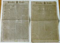 1794; 1796 COLUMBIAN CENTINEL TWO COMPLETE ORIGINAL NEWSPAPERS WITH GREAT ADS