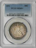 1891 LIBERTY SEATED HALF DOLLAR 50C MS 65  PLUS PCGS POP  1/16
