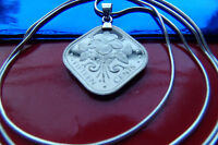 FLORAL ISLAND BEAUTY BAHAMAS HIBISCUS COIN PENDANT  30
