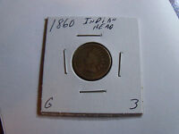 DATE 1860 INDIAN HEAD PENNY PLEASE SEE PICS