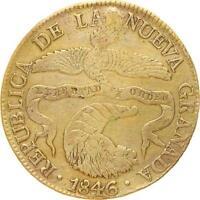 L6161 COLOMBIA NUEVA GRANADA 8 REALES 1846 RS ARGENT SILVER    M OFFER