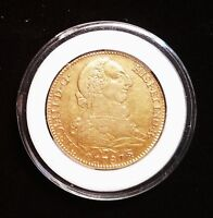 1787 S CM GOLD 4 ESCUDOS CHARLES IIII KING OF SPAIN