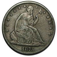 1875S SEATED SILVER LIBERTY HALF DOLLAR 50 COIN LOT MZ 3317