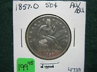 1857 O SEATED HALF DOLLAR