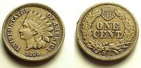 X/F 1860 INDIAN HEAD CENT   POINTED BUST