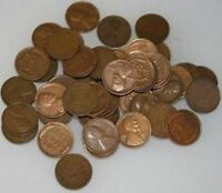 1930-S LINCOLN WHEAT CENTS ROLL 50 COINS