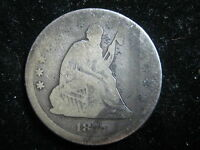 1877 US SEATED LIBERTY QUARTER 25 CENT COIN