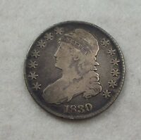 1830 CAPPED BUST/LETTERED EDGE HALF DOLLAR GOOD SILVER 50C