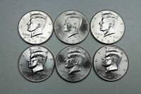 2000 2001 2002 P & D UNCIRCULATED KENNEDY HALF DOLLAR SET MINT ROLL SET
