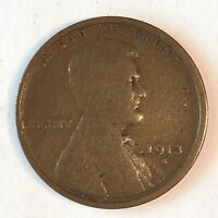 1913-S LINCOLN CENT - HIGH QUALITY SCANS D220