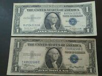 SERIES1957 A AND 1935 A SILVER CERTIFICATE BLUE SEAL DOLLAR BILL LOT
