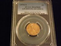 1970 S  ONE CENT        DDO                 PCGS  MS 65 RD