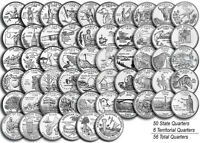 1999 2009 US STATE TERRITORIAL QUARTERS COMPLETE UNCIRCULATED SET