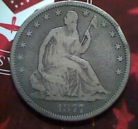 1877  CC SEATED HALF DOLLAR  VG / FINE