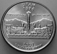 2007 P STATE QUARTER UNCIRCULATED BU UTAH UT