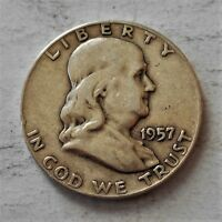 2 FRANKLIN HALF DOLLARS 1957 D  1958 D