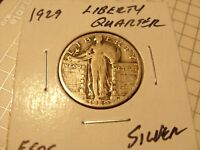 VERY NICE 1929 LIBERTY STANDING QUARTER E505