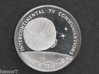 1970S TELSTAR SILVER ART MEDAL FRANKLIN MINT AMERICA IN SPACE D8720