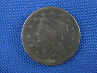 1848 BRAIDED HEAD UNITED STATES LARGE CENT