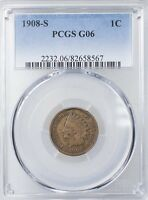 1908 S INDIAN HEAD CENT PCGS G6