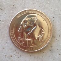 2013 D MOUNT RUSHMORE NATIONAL PARK QUARTER