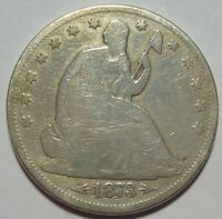 1873 CC SEATED HALF DOLLAR LOW MINTAGE CARSON CITY