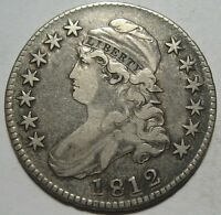 1812 VF CAPPED BUST HALF EARLY DATE