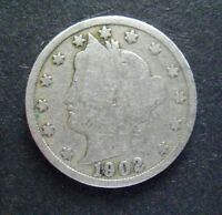 LIBERTY V CENTS 1902 -  PRIVATE SELLER NOT A DEALER - GOOD CONDITION LOW BID