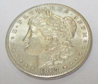 1887-S MORGAN SILVER DOLLAR BEAUTIFUL HIGHER GRADE AND BETTER DATE COIN