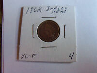 DATE 1862 INDIAN HEAD PENNY PLEASE SEE PICS