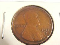 1913 S LINCOLN CENT, WHEAT CENT 13SAH