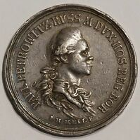 SILVER MEDAL RUSSIA 1776 VISIT OF PAUL I TO BERLIN BY MEIL