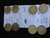 LOT OF 8 REPRODUCTION DOLLAR US COINS 1846,1873,1864,1881,1816 1801,1797,1798