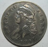 1814 VF/XF CAPPED BUST HALF EARLY DATE