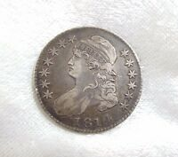 BARGAIN 1814 CAPPED BUST/LETTERED EDGE HALF DOLLAR EXTRA FINE SILVER 50C