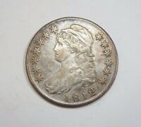 1812 CAPPED BUST/LETTERED EDGE HALF DOLLAR EXTRA FINE SILVER 50 CENTS