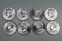 2011 2012 2013 2014 PD UNCIRCULATED KENNEDY HALF DOLLAR SET   FROM MINT ROLLS