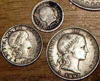 3 COLOMBIA1897/1875 SILVER20/10/05CENTAVOS XF F 1600 2011 COIN BOOKS CAT DVD PDF