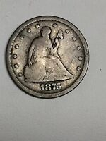 1875 S SEATED LIBERTY TWENTY CENT PIECE SILVER GOOD ONLY 1,155,000 MINTED