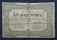 HUNGARY 2 PENGO/FORINT BANKNOTE ISSUED 1849 PICK S126A GOOD REPAIRED