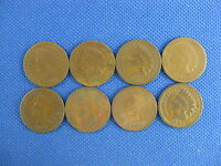 8 PC U.S. INDIAN CENT COIN LOT 1879 1880 1882 1883 1885 1886 TYP & 1 TYP 2 1894