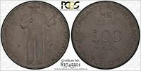UNC 1922 EMERGENCY NOTGELD COAL 500 MARK C. CONRADTY ROTHENBACH PCGS MS65