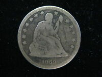 1859 O US SEATED LIBERTY QUARTER 25 CENT COIN